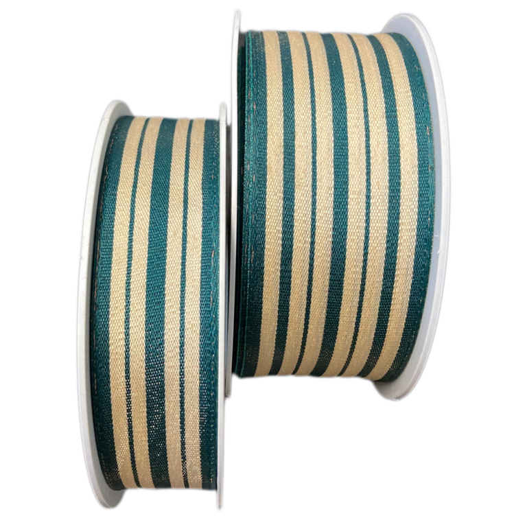 FOREST GREEN AND CREAM RIBBON NATURAL FINISH