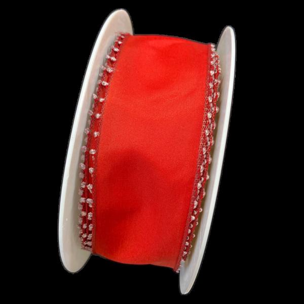 Red picot ribbon