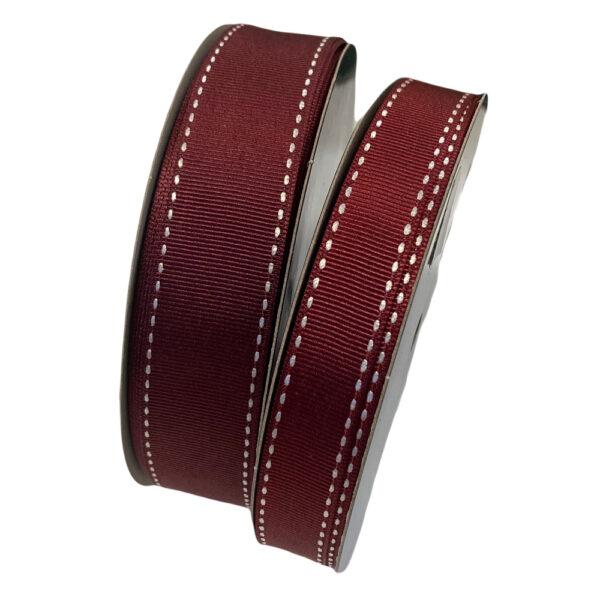 Burgundy red grosgrain ribbon