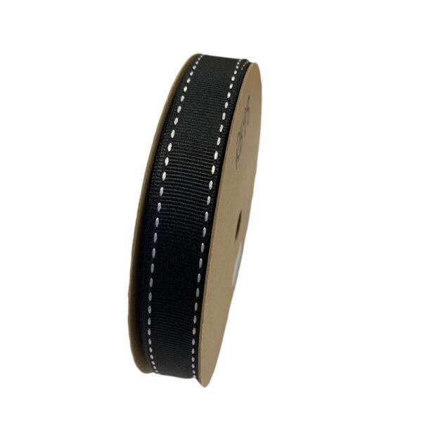 Rich black grosgrain ribbon