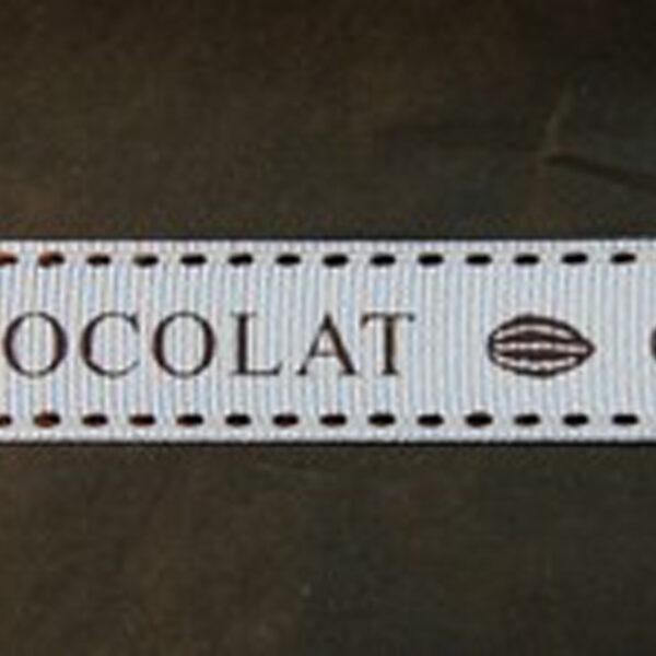 Ruban chocolat grosgrain