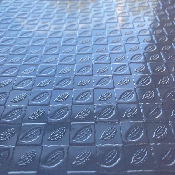 Feuille texturée, cabosse de cacaoyer