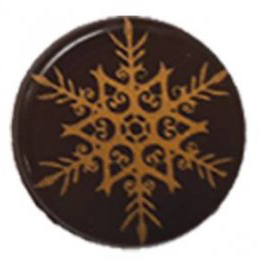 Blister plates - Round snowflake, Gold