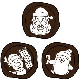 Blister Plates - 3D Christmas Seal Ass. -White